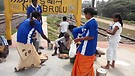 Feeding Mission at Railway Station in India